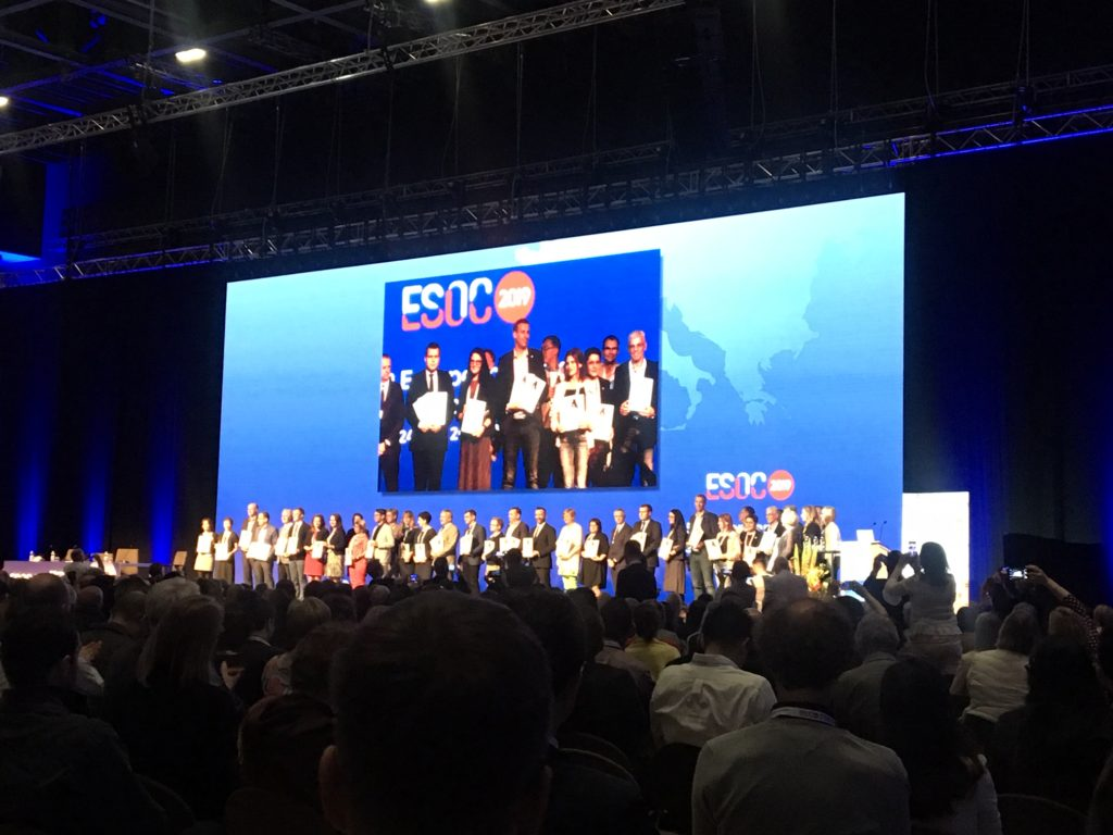 award winners on stage at ESOC2019