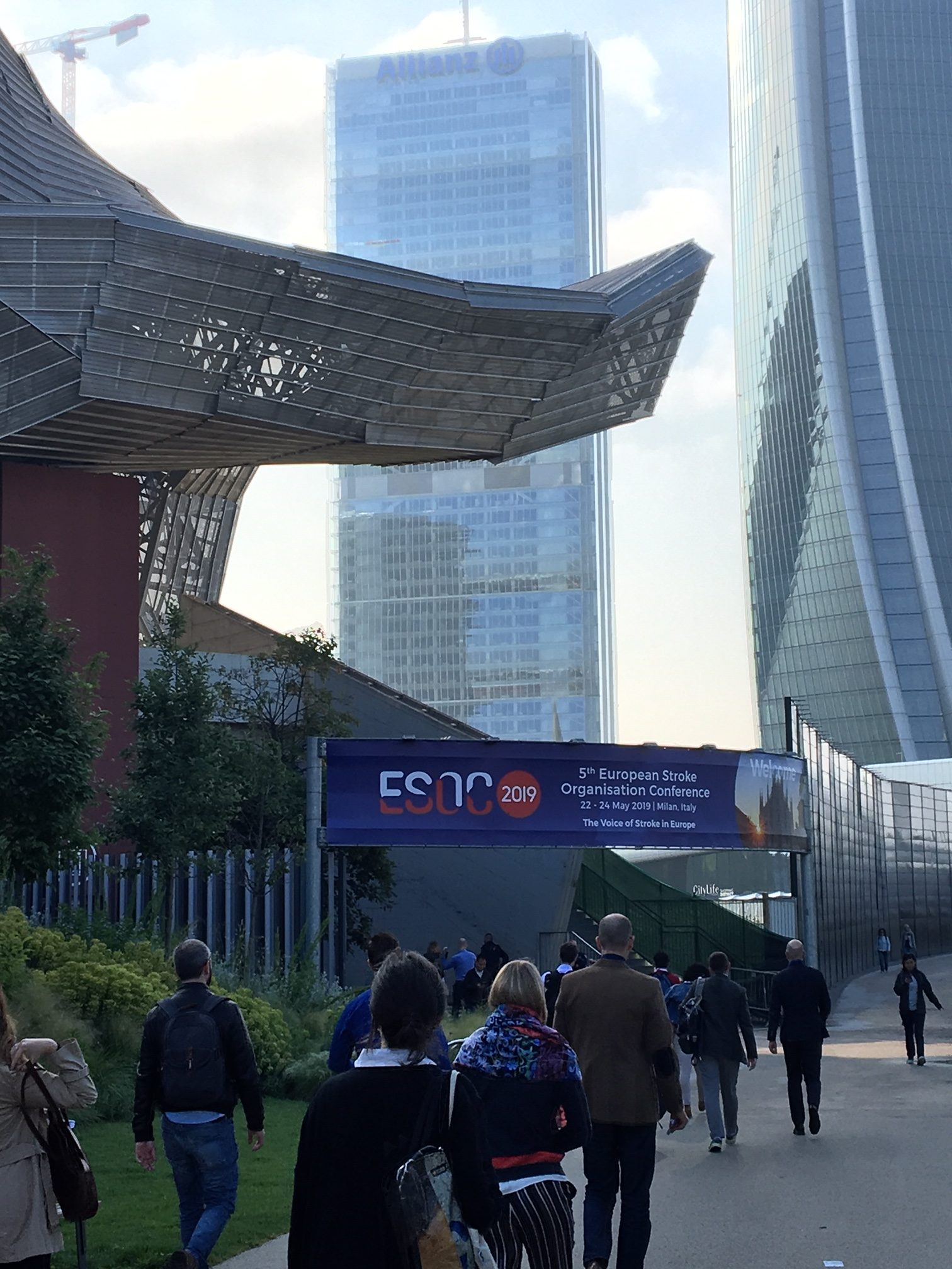 outside conference centre looking at ESOC sign