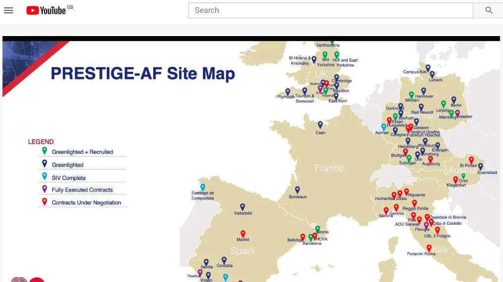 PRESTIGE-AF clinical site map